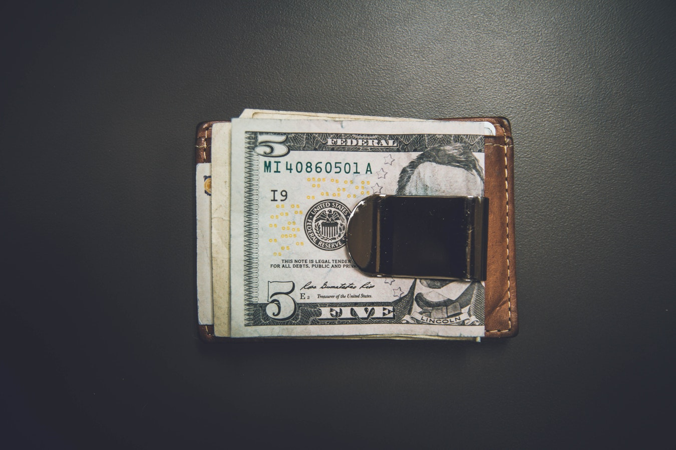 aluminum wallet with money clip